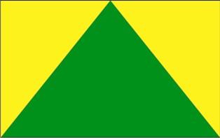 Flaga Gminy Zielona Góra